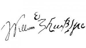 Autógrafo de Shakespeare